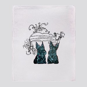 Scottish Terrier Proverb Throw Blanket